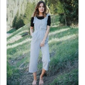 Free People Striped Jumpsuit